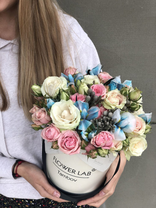 Цветы в коробке «Бабочки на лугу»