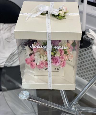 """Цветы в коробке """"Цветочный торт"""""""