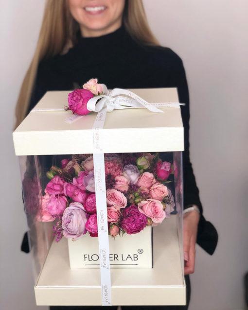 """Цветы в коробке """"Искренность"""""""