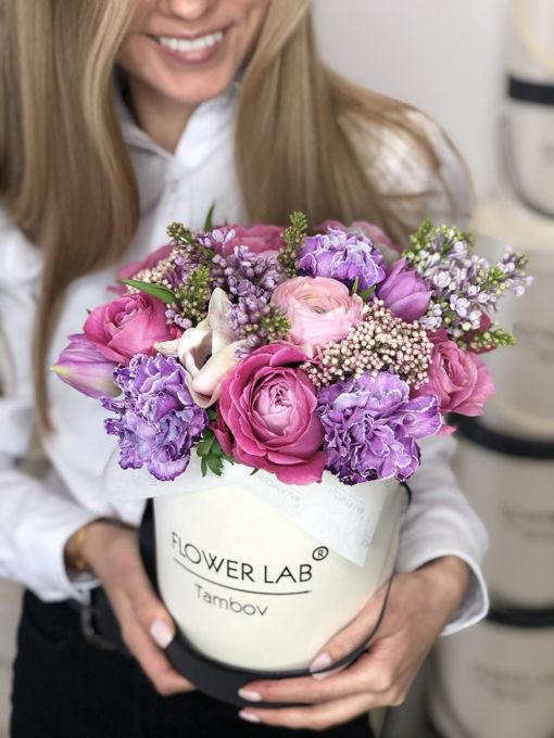 "Коробка с цветами ""Lilac"""