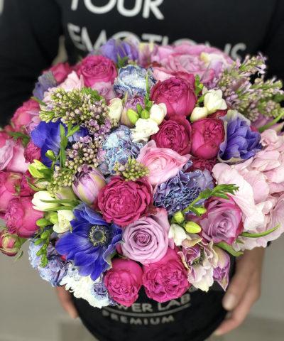 """Цветы в бархатной коробке """"Лунна ночь"""""""