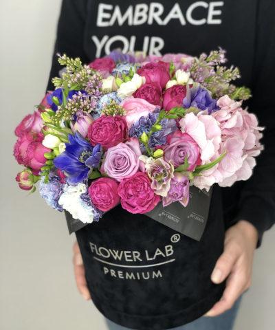Цветы в бархатной коробке