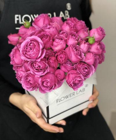 """Цветы в коробке """"Малиновое вино"""""""