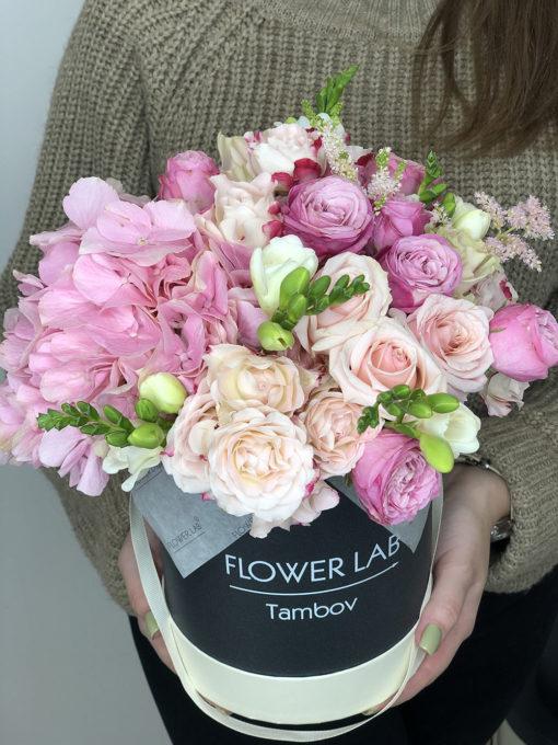 """Цветы в коробке """"Pink Apple"""""""