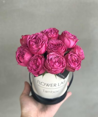 Коробка цветов «Розовый лимон»