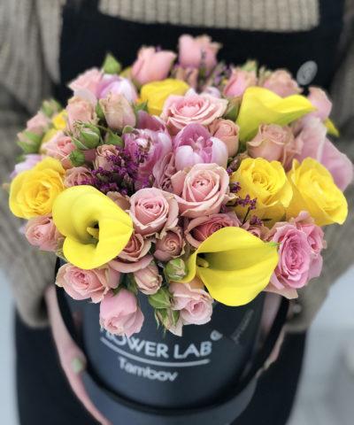 "Цветы в коробке ""Summer time"""